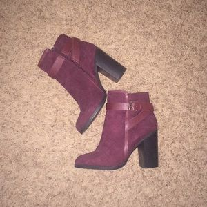 NWOT Brand new perfect fall red booties! Size 6.5